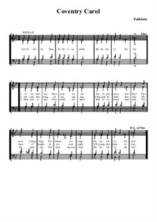 Coventry Carol: para coro misto by folklore
