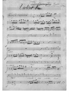 The Schoolmaster. Cantata, TWV 20:57: violinos parte I by Georg Philipp Telemann