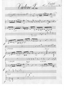 The Schoolmaster. Cantata, TWV 20:57: violinos parte II by Georg Philipp Telemann