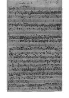 Trio Sonata for Violin, Flute and Basso Continuo in D Major, QV 2:9: partitura completa by Johann Joachim Quantz