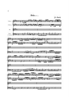 Bekennen Will Ich Seinen Namen, BWV 200: Partitura completa by Johann Sebastian Bach