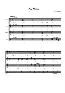 Ave Maria: para coro by Johann Caspar Aiblinger