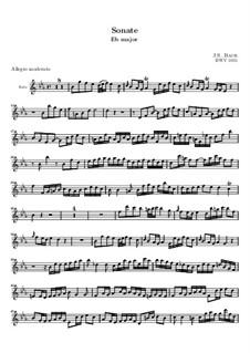 Sonata for Flute and Harpsichord No.2 in E Flat Major, BWV 1031: Parte de solo by Johann Sebastian Bach