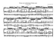 Wenn wir in höchsten Nöten sein, BWV 641: Wenn wir in höchsten Nöten sein by Johann Sebastian Bach