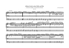 Chorale Preludes III (The Great Eighteen): Allein Gott in der Höh' sei Ehr', BWV 663 by Johann Sebastian Bach