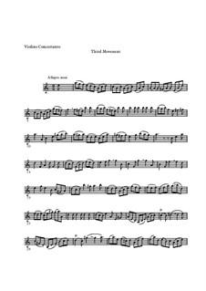 Concerto for Violin, Strings and Basso Continuo No.1 in A Minor, BWV 1041: Movement III – solo part by Johann Sebastian Bach