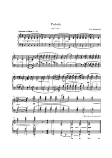 Twenty-Four Preludes, No.1, 22, Op.17: Twenty-Four Preludes, No.1, 22 by Felix Blumenfeld