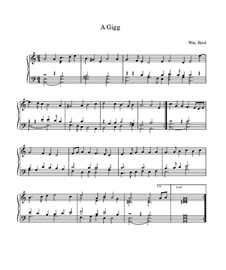 Gigue in A Minor: Para Piano by William Byrd