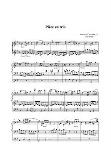 Pièce en trio: Pièce en trio by Guillaume-Antoine Calvière