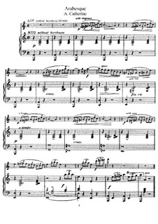 Arabesque for Flute and Piano: Arabesque for Flute and Piano by Alphonse Catherine