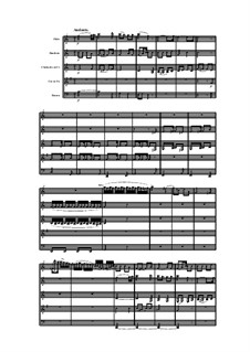 Woodwind Quintet in F Minor, Op.99 No.2: movimento II by Anton Reicha