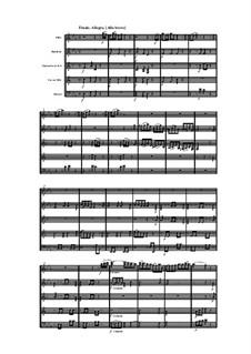 Woodwind Quintet in E Flat Major, Op.100 No.3: Movimento IV by Anton Reicha