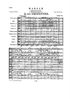 March for Military Band 'Zapfenstreich', WoO 20: Partitura completa by Ludwig van Beethoven