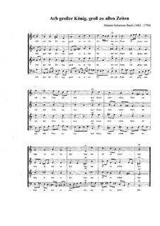 St John Passion, BWV 245: No.27, Choral 'Ach grosser König' by Johann Sebastian Bach