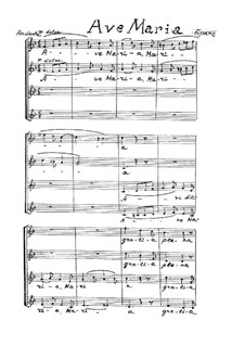 Ave Maria, Op.12: Partitura vocal by Johannes Brahms