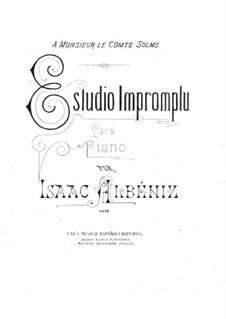 Estudio impromptu, Op.56: para um único musico (Editado por H. Bulow) by Isaac Albéniz