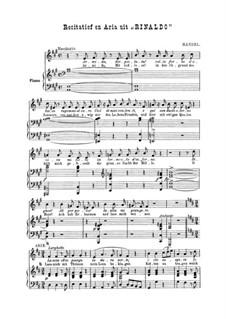 Lascia Ch'io Pianga: Para vocais e piano by Georg Friedrich Händel