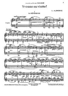 Yvonne en visite: Para Piano by Isaac Albéniz