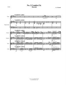 No.2 Comfort Ye My People: For chamber orchestra – full score, parts by Georg Friedrich Händel