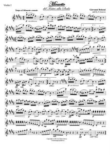 Minuet: para quartetos de cordas by Giovanni Bolzoni