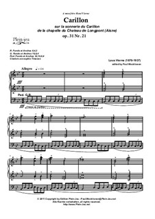 Carillon, Op.31 Nr.21: Carillon by Louis Vierne