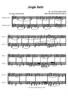 Jingle Bells: For easy clarinet duo by James Lord Pierpont