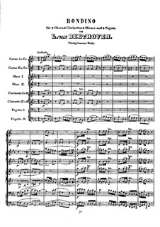 Rondino for Wind Instruments, WoO 25: Partitura completa by Ludwig van Beethoven