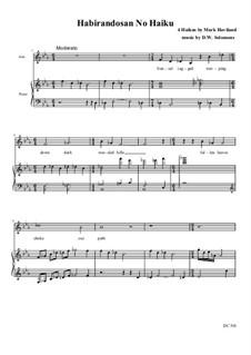 Habirandosan No Haiku – a Japanese style haiku song: Para alto e piano by David W Solomons