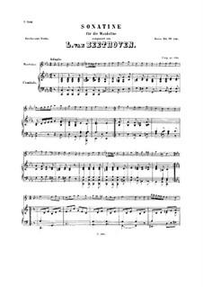 Sonatina for Mandolin, WoO 43a: Sonatina for Mandolin by Ludwig van Beethoven