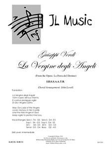 La forza del destino: La Vergine degli Angeli, for mixed choir and piano by Giuseppe Verdi