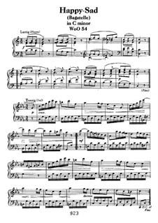Lustig-Traurig (Happy-Sad), WoO 54: Para Piano by Ludwig van Beethoven