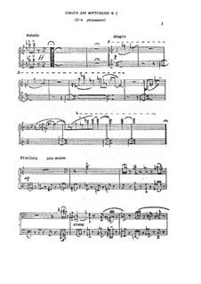 Sonata for piano No.1: Segunda edição by Mikhail Gogolin