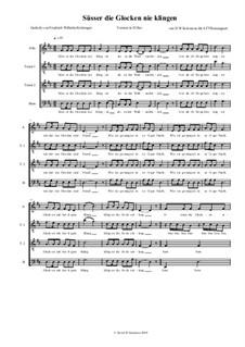 Süsser die Glocken nie klingen: para coro by folklore