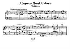 Allegretto Quasi Andante, WoO 61a: Para Piano by Ludwig van Beethoven