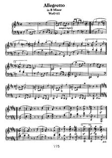 Allegretto in B Minor, WoO 61: Para Piano by Ludwig van Beethoven