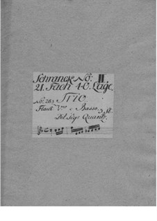 Trio Sonata for Violin, Flute and Basso Continuo in E Flat Major, QV 2:18: Trio Sonata for Violin, Flute and Basso Continuo in E Flat Major by Johann Joachim Quantz