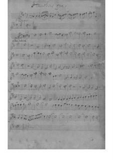 Sonata for Oboe, Strings and Basso Continue in D Major – Parts, SeiH 253 Hwv III:18: Sonata for Oboe, Strings and Basso Continue in D Major – Parts by Johann David Heinichen