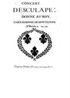 Concert d'Esculape, S.134: Concert d'Esculape by Michel Richard de Lalande