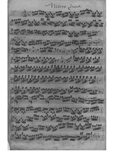 Concerto for Violin and Orchestra in E Minor, TWV 53:e2: Concerto for Violin and Orchestra in E Minor by Georg Philipp Telemann