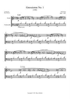 No.1: Original key (cello and guitar has melody) by Erik Satie