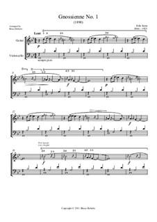 No.1: para violoncelo e guitarra by Erik Satie