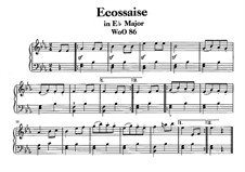 Écossaise in E Flat Major, WoO 86: Para Piano by Ludwig van Beethoven