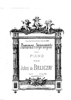Romance and Impromptu, Op.29: Romance and Impromptu by Gyula Beliczay