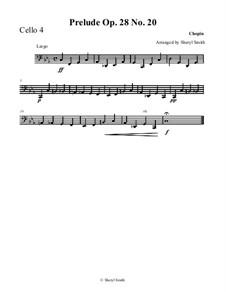 No.20 in C Minor: For cello quartet (four cellos) or cello ensemble by Frédéric Chopin