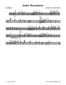 Judas Maccabaeus, HWV 63: Theme, for beginner cello quartet (four cellos) by Georg Friedrich Händel