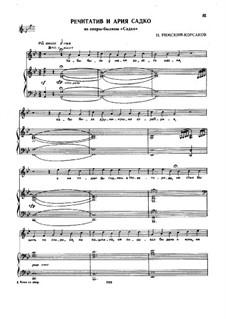 Sadko. Opera: Recitative and Aria of Sadko by Nikolai Rimsky-Korsakov