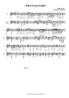 When Laura smiles: para alto (ou baritono) e guitarra by Philip Rosseter