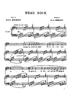 Beau soir (One Evening), L.6: Para vocais e piano by Claude Debussy