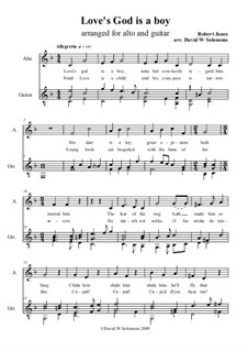 Love's God is a boy: Para alto e guitarra by Robert Jones