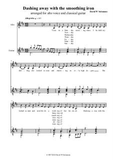 Dashing Away with the Smoothing Iron: para alto (ou baritono) e guitarra by folklore